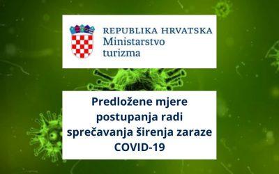 Predložene mjere postupanja radi sprečavanja širenja zaraze COVID-19