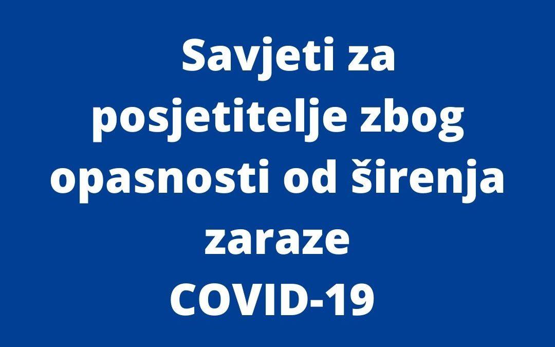 Savjeti za posjetitelje COVID-19
