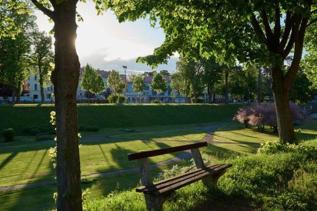 Klupa u parku u Karlovcu